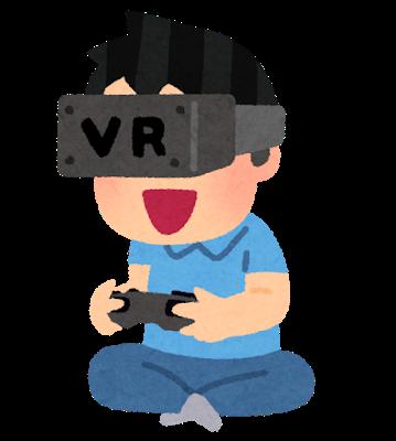 VRゲームをする男性